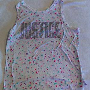 Justice Girls Tank Top Shirt